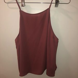 Lush Polyester Tank Dusty Rose